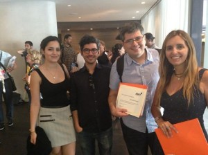 Our team receiving a certificate from  labrff